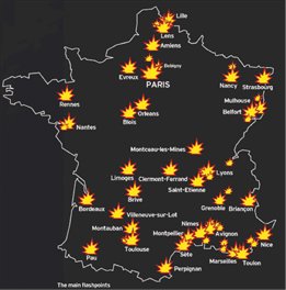 Cities Hit By riots
