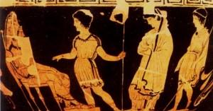 Antigone brought to Creon