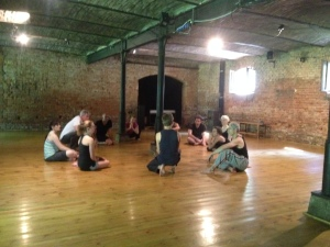 Antigone cast in circle - Poland