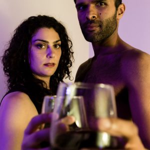 Mona (Michelle Drexler) and Kamal (Kunal Prasad) celebrate five years of marriage in An Evening With Activists.